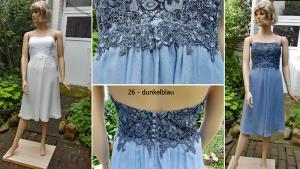 Färberei Holtmann Wittingen - Brautkleid gefärbt - Polyester  -dunkelblau