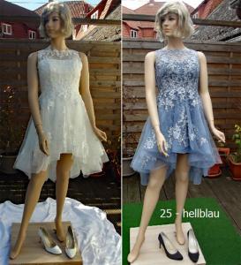 Färberei Holtmann Wittingen - Brautkleid gefärbt - Polyester  -hellblau