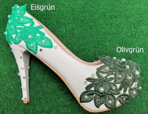 Färberei Holtmann Wittingen - Schuhe färben - Eisgrün-Olivgrün