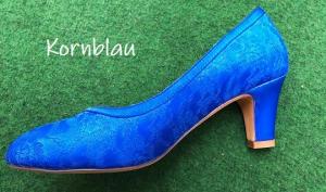 Färberei Holtmann Wittingen - Schuhe färben - Kornblau