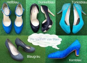 Färberei Holtmann Wittingen - Schuhe färben - Überblick Blautöne