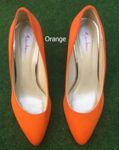 Färberei Holtmann Wittingen - Schuhe färben - Orange