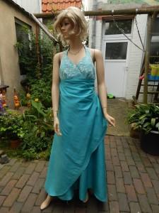 Färberei Holtmann Wittingen - Brautkleid gefärbt - Seidentaft türkis