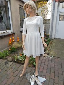 Färberei Holtmann Wittingen - Brautkleid vor dem Färben - Polyester -