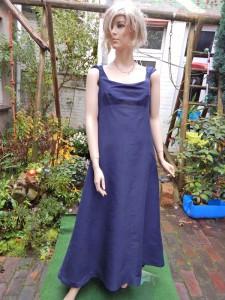 Färberei Holtmann Wittingen - Brautkleid gefärbt - Seide blau