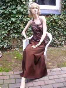 Färberei Holtmann Wittingen - Brautkleid - gefärbt - Acetat - braun
