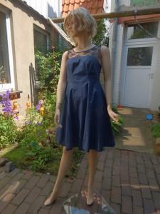 Färberei Holtmann Wittingen - Brautkleid - gefärbt - Baumwolle-Batist - dunkelblau