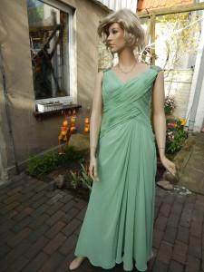 Färberei Holtmann Wittingen - Brautkleid gefärbt - Polyester - grün