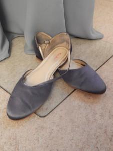 Färberei Holtmann Wittingen - Brautschuhe gefärbt grau