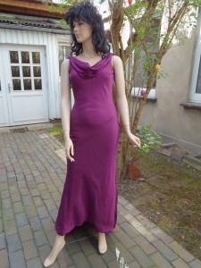 Färberei Holtmann Wittingen - Brautkleid gefärbt - Seide heliotrop