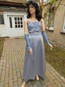 Färberei Holtmann Wittingen - Brautkleid gefärbt - Polyester - silbergrau